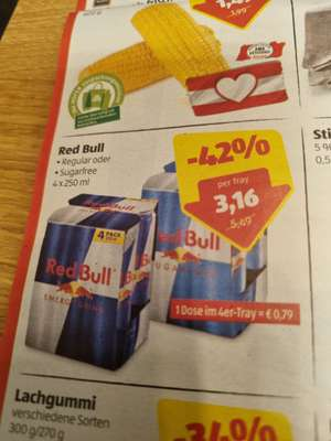 Red Bull 4rer Pack um 3,16€ (= € 0,79 pro Dose)