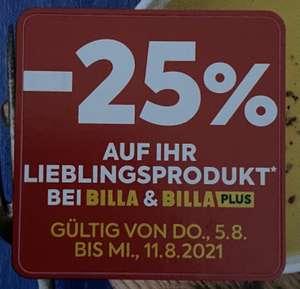 Billa/Billa Plus -25% Sticker