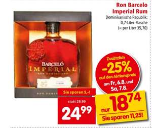 Ron Barcelo Imperial Rum in Aktion bei Interspar