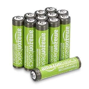 12x Amazon Basics AAA-Batterien, wiederaufladbar, 850 mAh