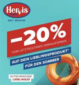 Hervis: 20% Rabatt auf fast alles vom letzt gültigen Verkaufspreis ab 18.08