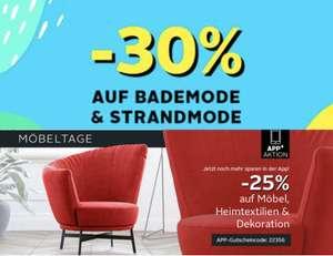 30% auf Bademode & 25% auf Möbel, Heimtextilien und Dekoration bei Otto