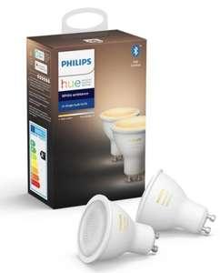 Philips Hue White Ambiance GU10 Spot Bluetooth 6er Pack (3x2)