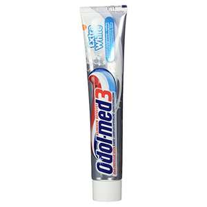5 Stück Odol-med3 Extra White Zahnpasta, 75ml (0,55€ pro Tube)