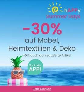 -30% Rabatt auf Möbel, Heimtextilien & Deko in der App