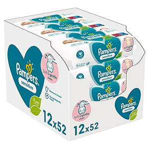 Pampers Sensitive Baby Feuchttücher 5x 624 Tücher im Spar-Abo