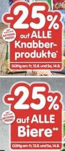 25% auf Bier und Knabberartikel bei Spar, Interspar, Eurospar