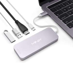 MiniX USB-C Multiport SSD Storage Hub, 480GB