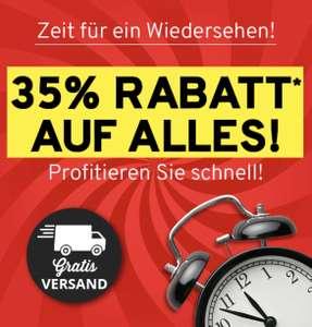 Vorteilshop: 35% Rabatt auf alles ab 25€ Bestellwert + gratis Versand