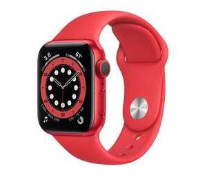 Apple Watch Series 6, 40mm oder 44mm, Aluminium rot mit Sportarmband rot
