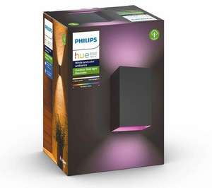 2x Philips Hue White and Color Ambiance Resonate Wandleuchte, schwarz