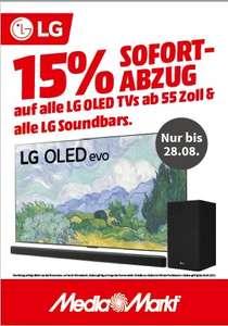 Mediamarkt: 15% Sofort-Rabatt auf LG OLED TV's & Soundbars