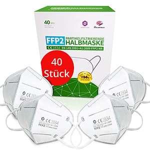 40 Stück FFP2 Maske CE Zertifiziert