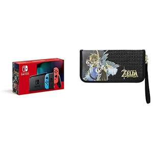 Nintendo Switch (Rot/Blau) + The Legend of Zelda Premium Reiseetui