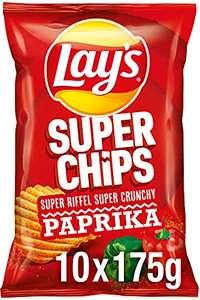 Lay's Superchips Paprika – Knusprig gewürzte Kartoffelchips – 10 x 175g