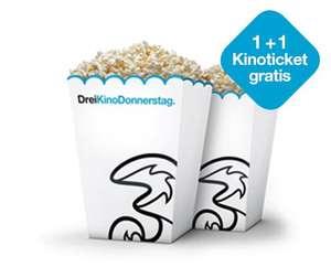 Drei Kino Donnerstag: Zwei Tickets zum Preis von einem (für Drei Kunden)