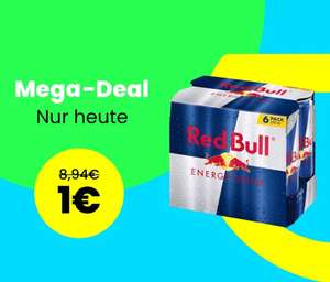 Mjam Market - 6x Red Bull 0,25l für 1€