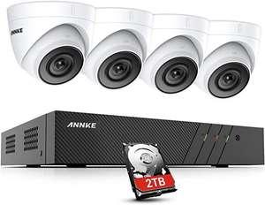 ANNKE H500 5MP POE Überwachungskamera Set mit 2TB Festplatte