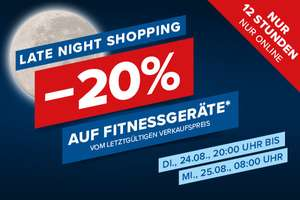 Hervis: 20% Rabatt auf Fitnessgeräte ab 20:00
