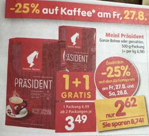 Meinl Präsident Kaffee bei Interspar