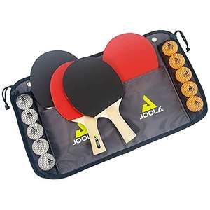 JOOLA 15 teiliges Tischtennis-Set mit 4 Tischtennisschläger, 10 Tischtennisbälle & Tasche