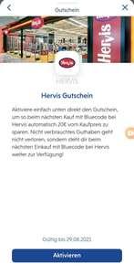 Hervis Gutschein 20€ ohne Mindestkaufwert in Huawei Wallet via Bluecode