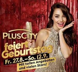 Plus City feiert Geburtstag: zB. -20% auf gebrauchte Games, -20% Kinotickets, 1+1 Sodastream Sirup, KFC 5 für 5€ Box, -20% Burgerista, uvm.