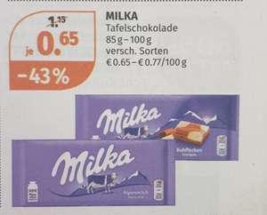 Milka Schokolade (85-100g) in Aktion bei Müller ab 30.August