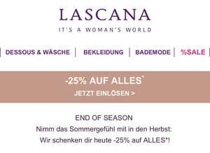 Lascana: 25% Rabatt auf fast Alles