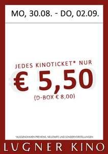 Lugner Kino-Ticket von 30.08. - 02.09.