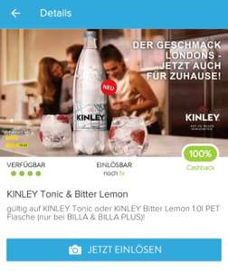 100% Cashback (Marktguru) auf KINLEY Tonic oder BitterLemon 1l PET