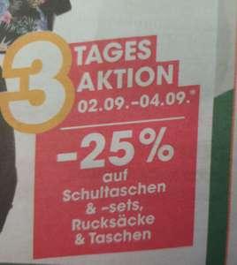 -25% auf Schultaschen &-sets, Rucksäcke + Taschen