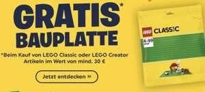 Smyths Toys: Gratis Lego Grüne Bauplatte ab 30€ Einkaufswert von Lega Classics oder Lego Creator + gratis Versand