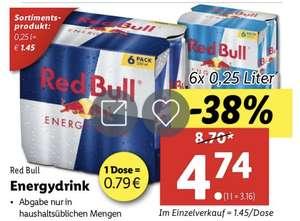 6er Red Bull bei Lidl (0,79 Cent/Dose)