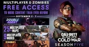 """""""Call of Duty Black Ops Cold War"""" Mehrspieler , Zombie und den neuen Modus Doppelagent 2.9 - 7.9. gratis spielen (PC / XBOX / PlayStation)"""