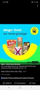 Mjam Market 4 Packungen Chips um 1€
