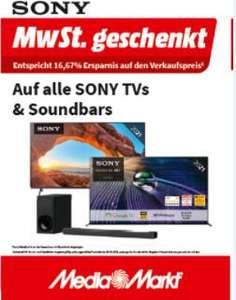 Mediamarkt: 16,67% Mehrwertsteuer-Rabatt auf alle Sony TV's & Soundbar