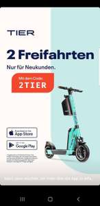 TIER: 2 kostenlose Fahrten