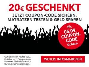 20€ Matratzen Concord Gutschein bei 20€ Mindesteinkauf