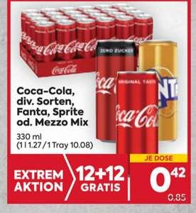 Coca Cola (div. Sorten), Fanta, Sprite, Mezzo Mix in Aktion bei Billa-Plus ab 9.9.2021