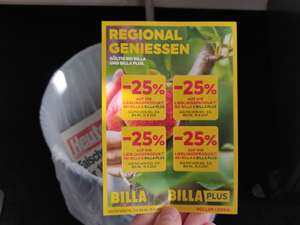 -25% Sticker für BILLA & BILLA PLUS in der Heute Zeitung