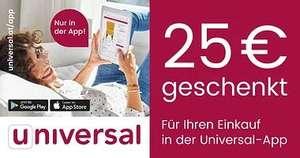 Universal: 25€ Rabatt ab 100€ Bestellwert in der App
