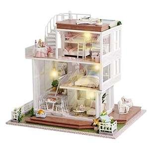 Miniatur-Haus zum Bau von Puppen aus Holz