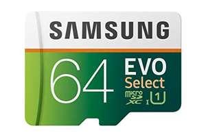 Samsung EVO Select R100/W20 microSDXC 64GB Kit, UHS-I U1, Class 10 (MB-ME64HA) - Prime