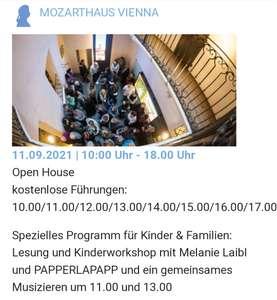 11.9 und 12.9: Freier Eintritt Mozarthaus Vienna