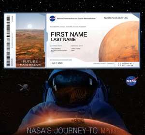 NASA: Schick deinen Namen gratis auf die Reise zum Mars (Wer kommt mit?)