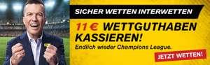 Interwetten: 11€ Wettguthaben kostenlos