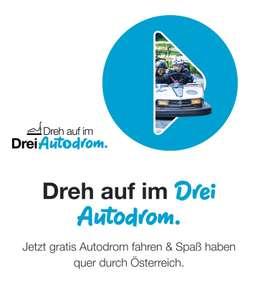 """Gratis """"Drei Autodrom"""" Wien, Krems & Innsbruck"""