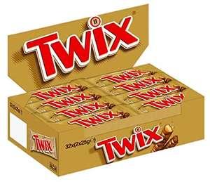 Twix Schokoriegel 32 Doppelriegel in einer Box (32 x 2 x 25 g)