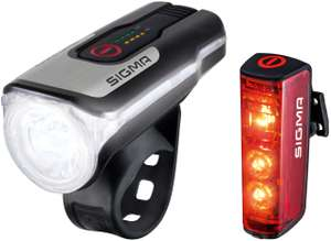 """Sigma Sport """"Aura 80 USB/Blaze"""" Beleuchtungsset (akkubetrieben, mit Bremsfunktion)"""